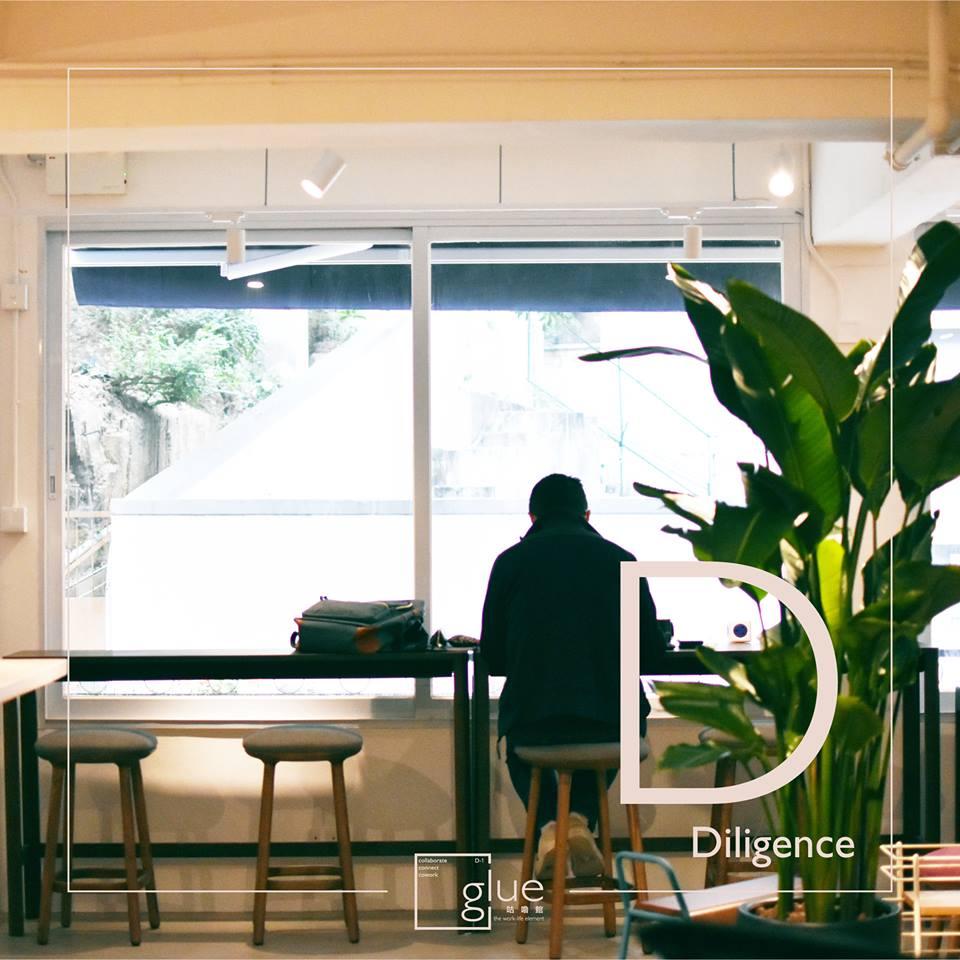 香港のコワーキングスペース「glue」の店内