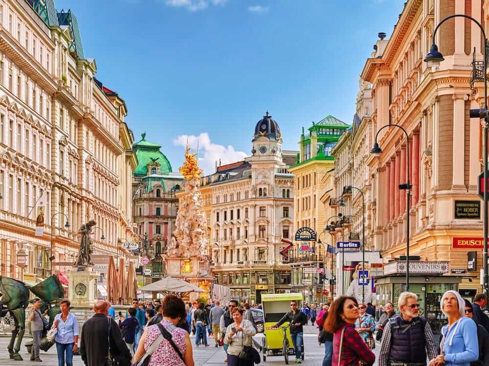 オーストリア首都ウィーンの街並み