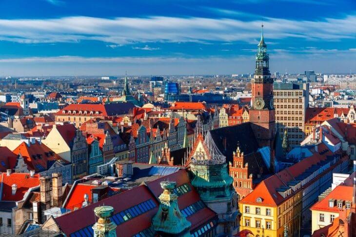 ポーランドの首都ワルシャワの街並み