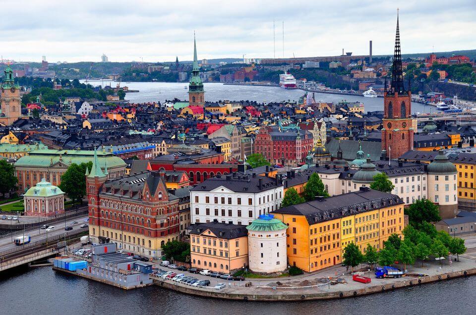 スウェーデンストックホルムの街並み