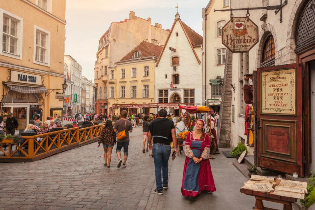 エストニアの首都タリンの旧市街の街並み