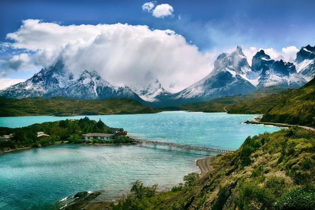 チリの湖風景