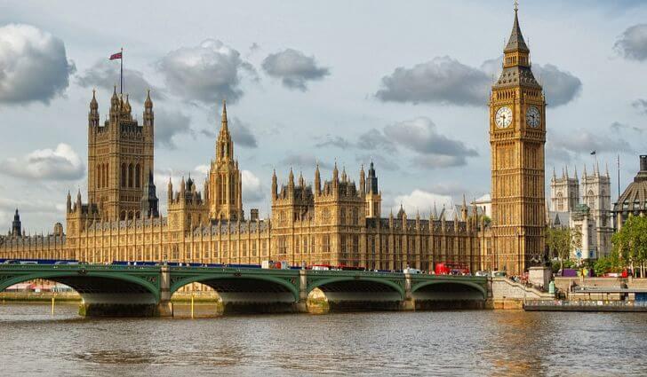 イギリスロンドンにあるウェストミンスター宮殿