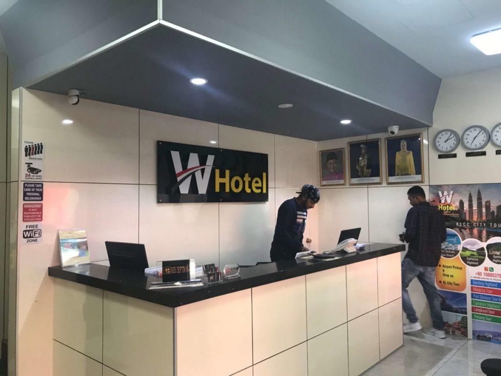 W HOTELのフロント