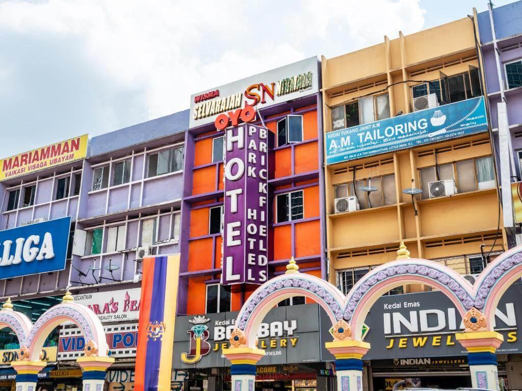 マレーシアのOYO HOTELの外観